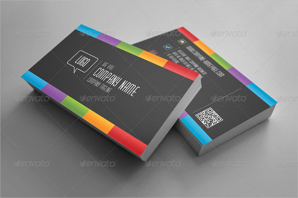 25 rainbow business card templates free premium download dark rainbow business card template reheart Images