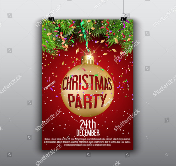 Decorative Design for a Christmas Flyer