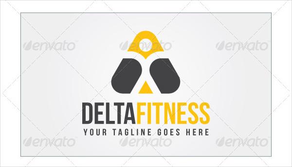 Delta Fitness Logo Template