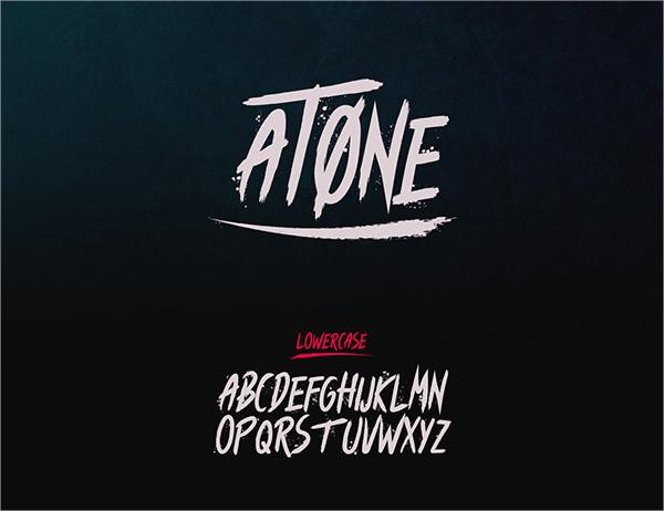 Atone Brush Font