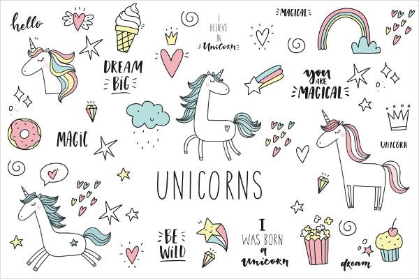 Doodle Unicorn Background