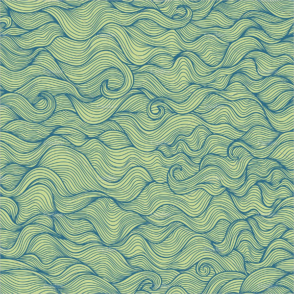 Doodle Wavy Seamless Background