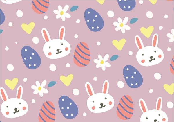 Free Doodled Easter Background