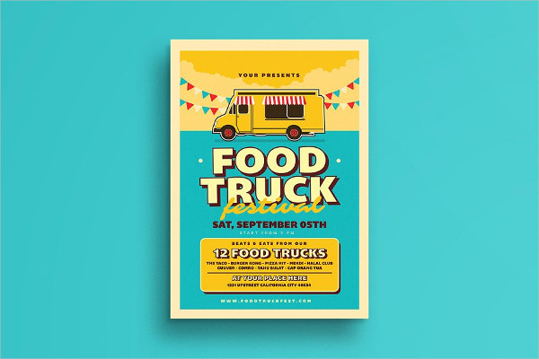Easy to Edit Retro Food Truck Event Flyer