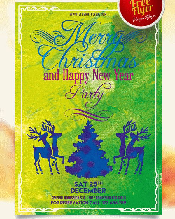 Merry Christmas & New Year Party Flyer Free