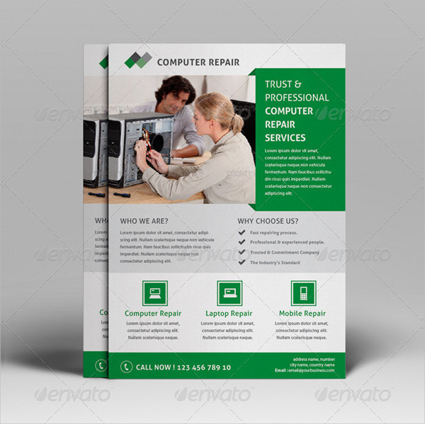 Computer Repair Flyer Template | 21 Computer Repair Flyer Templates Free Premium Download