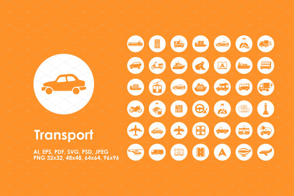 Element Transport icons