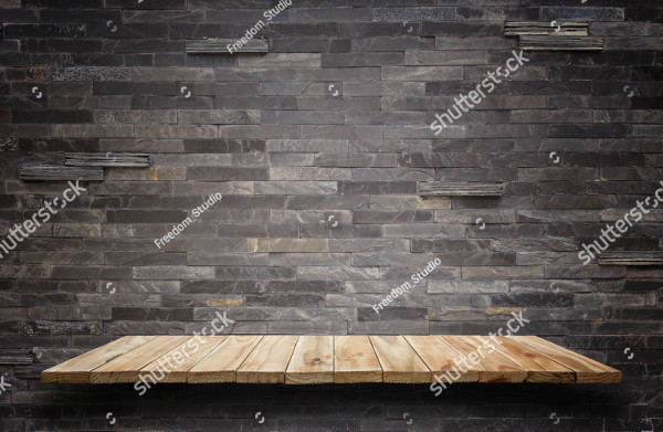 Stone & Wall Background For Product Display