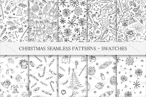 Fashion Christmas Seamless Patterns