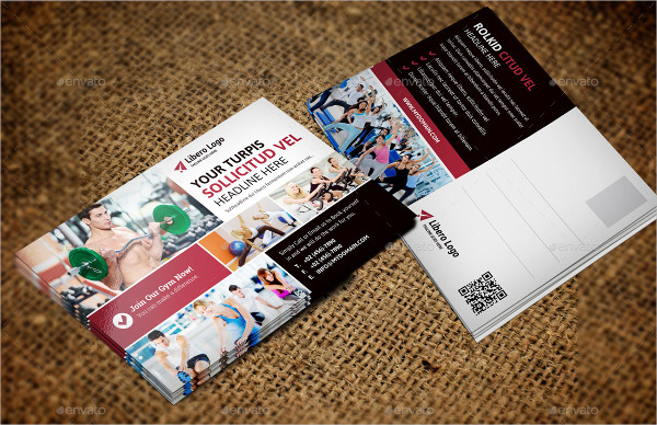 Fashion Fitness Postcard Template