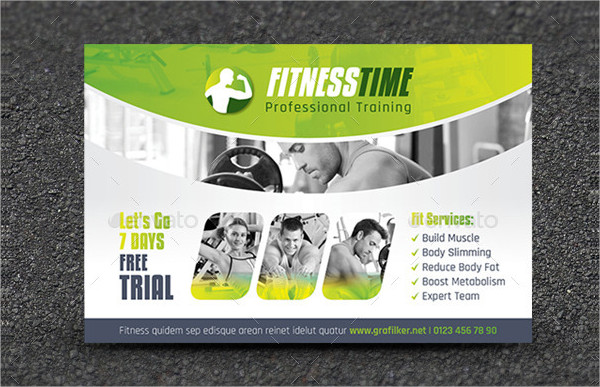 Best Fitness Salon Postcard Templates