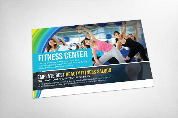 Fitness Health Club Postcard Template