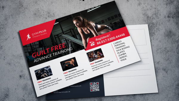 Fitness Postcard Template
