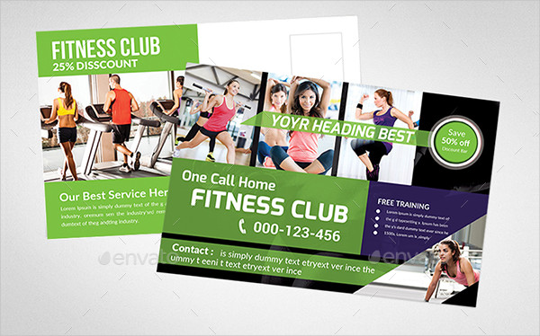 Clean Fitness Postcard Templates Bundle