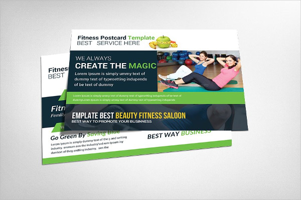 Attractive Fitness Center Postcard Template