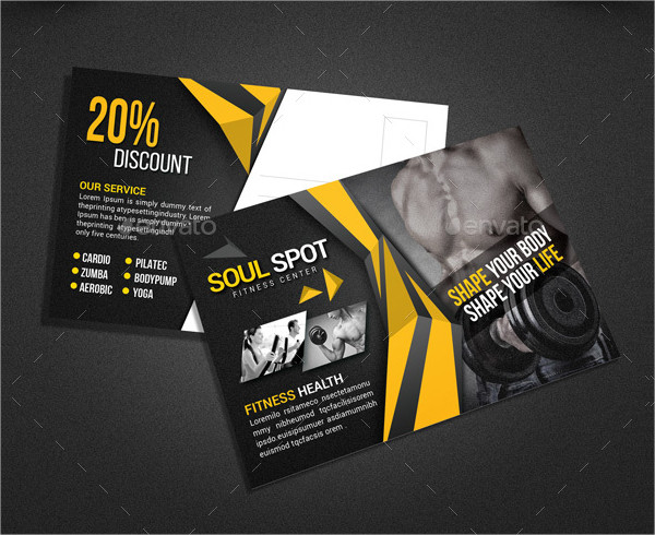 Fitness Spot Postcard Template
