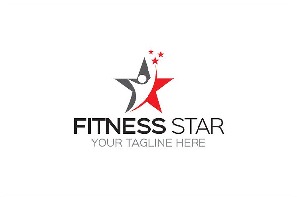 Fitness Star Logo Template