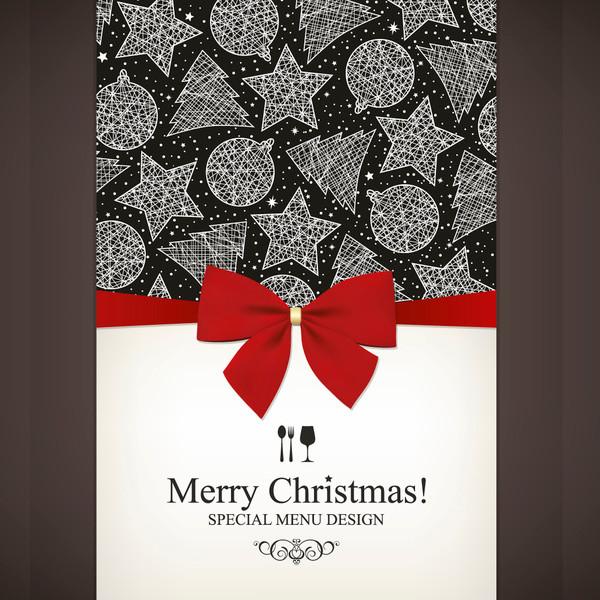 Free Christmas Menu & Bows Design