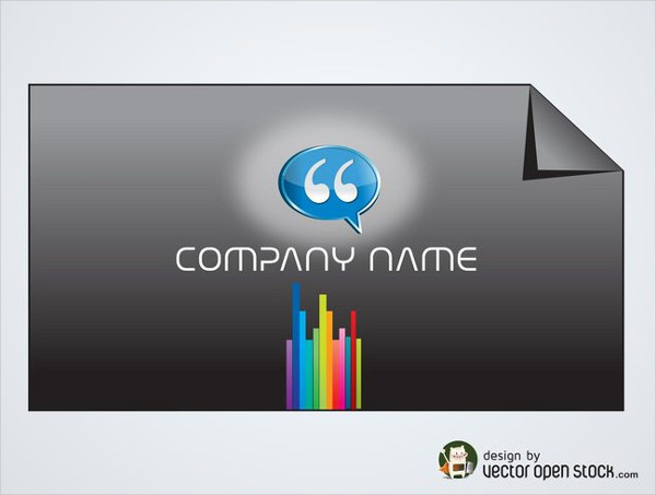 25 rainbow business card templates free premium download free rainbow lines business card template reheart Images