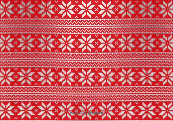 Free Red Christmas Fabric Vector Pattern