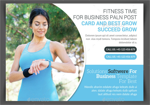 Unique Fitness Services Postcard Template
