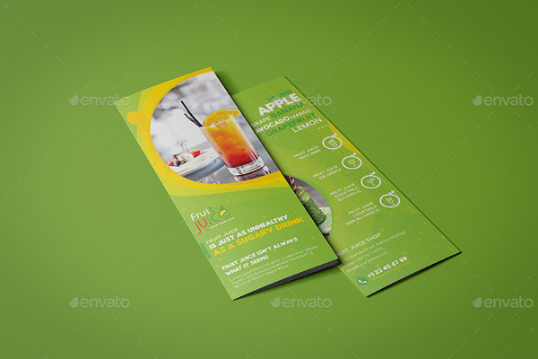 Fruit Juice Shop Mini Menu Template