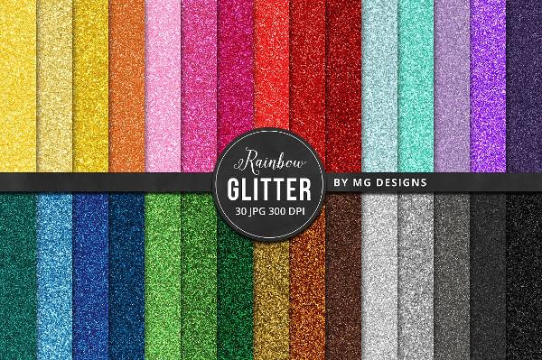 30 Glitter Texture Big Bundle