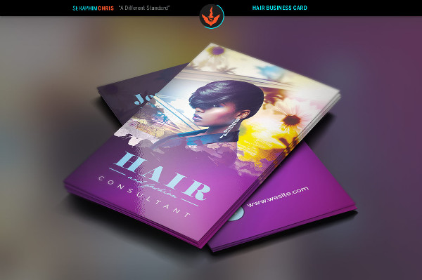 Hair and Fashion Business Card Design