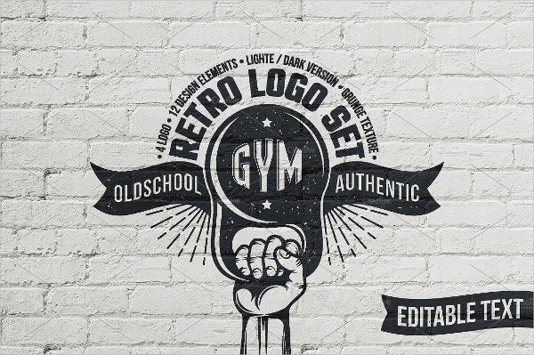 Old School Retro Logo for Gym