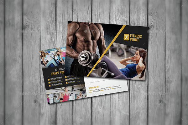 Awesome Fitness Point Postcard Template