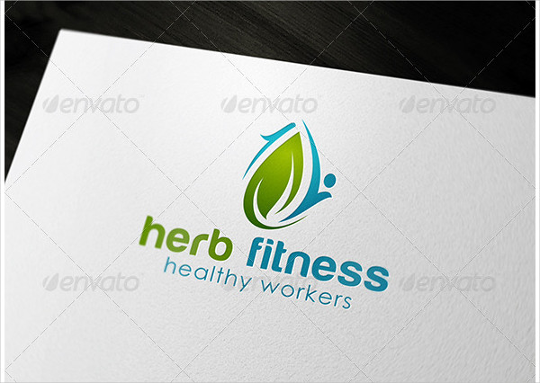 Herb Fitness Logo Template