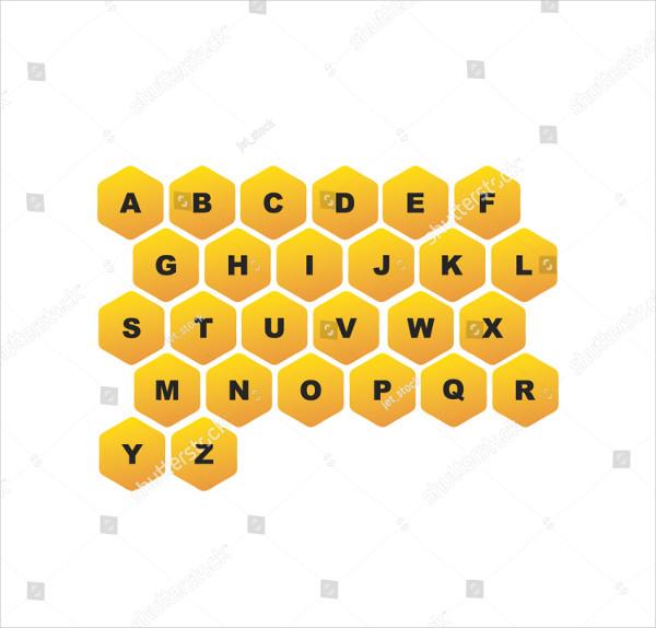Hive Alphabet Logo Template