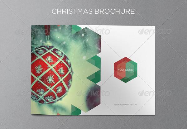 Horizontal Design Christmas Brochure