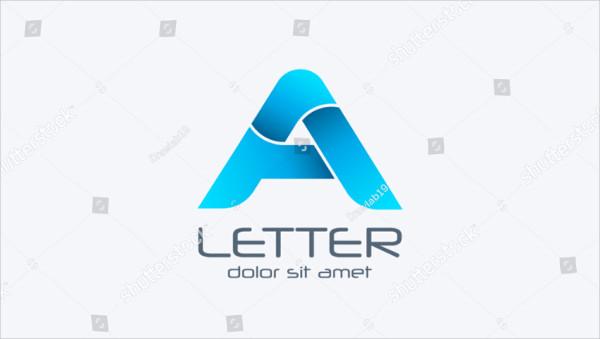 A Letter Logo Template Design