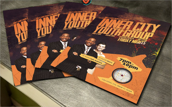 Popular Inner City Youth Group Flyer Template