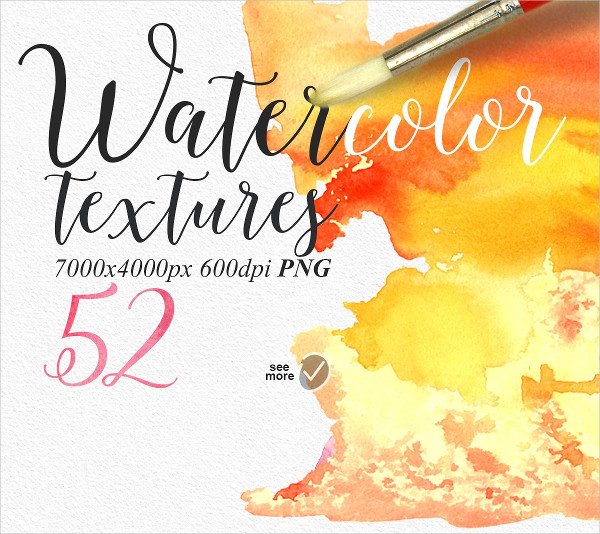52 Cool Watercolor PNG Textures
