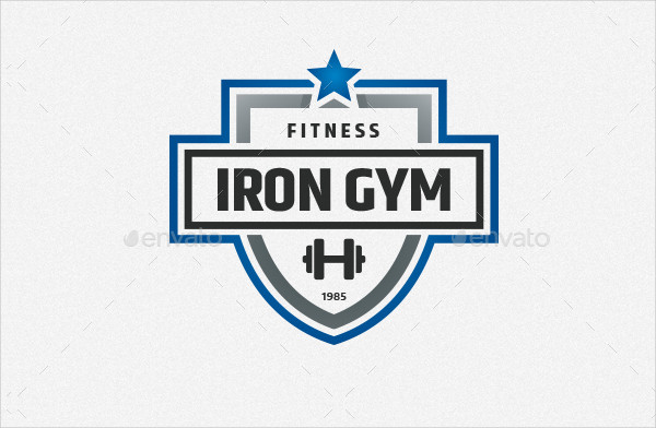 Iron Gym Logo Template