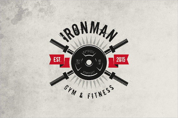 Iron Man Fitness & Gym Logo Template
