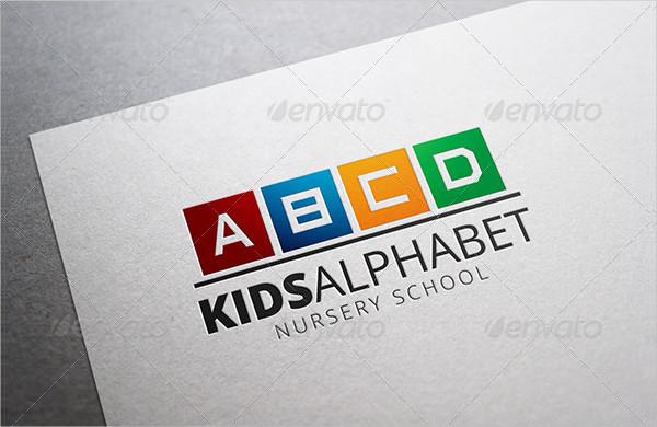 Kids Alphabet Logo Template