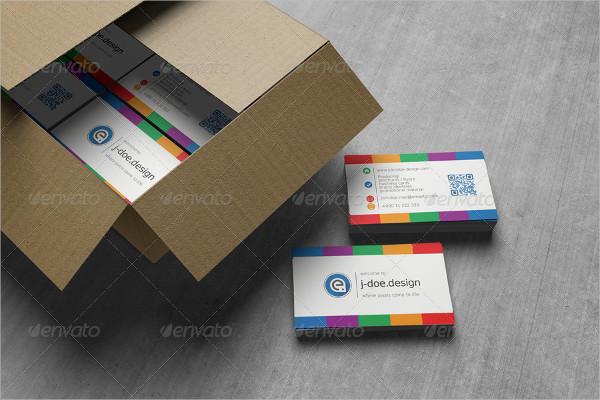 25 rainbow business card templates free premium download light rainbow business card template reheart Images