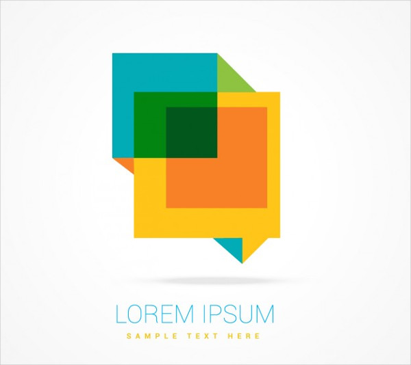 Logo with Speech Bubble Form Free Vector