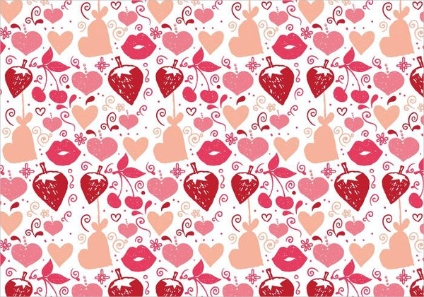 Free Vector Love Doodle Backgrounds