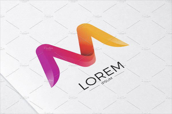 M Alphabet Abstract Letter Logo Template