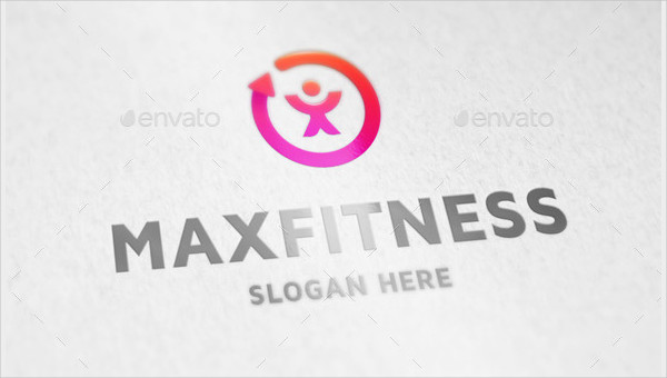 Max Fitness Logo Template