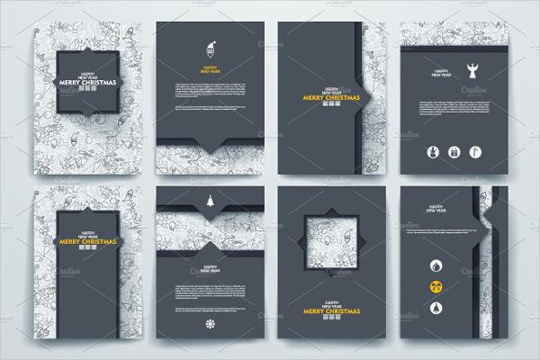 Merry Christmas Brochures in Vector Design