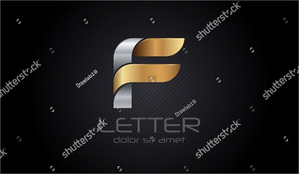 Metal F Letter Logo Design