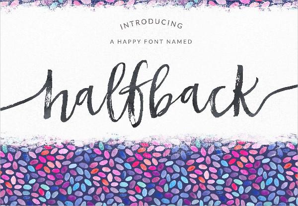 Halfback Dry Brushed Script Font