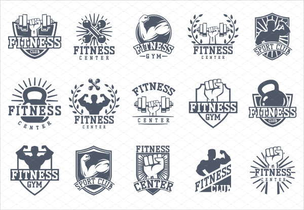 Monochrome Fitness Logo Templates