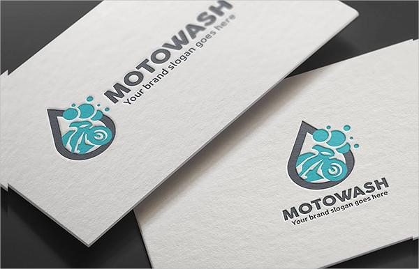 Motorcycle Wash Logo Template