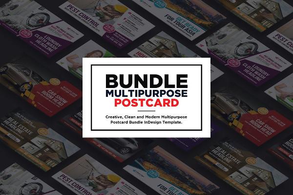 Multipurpose Fitness Postcard Templates Bundle
